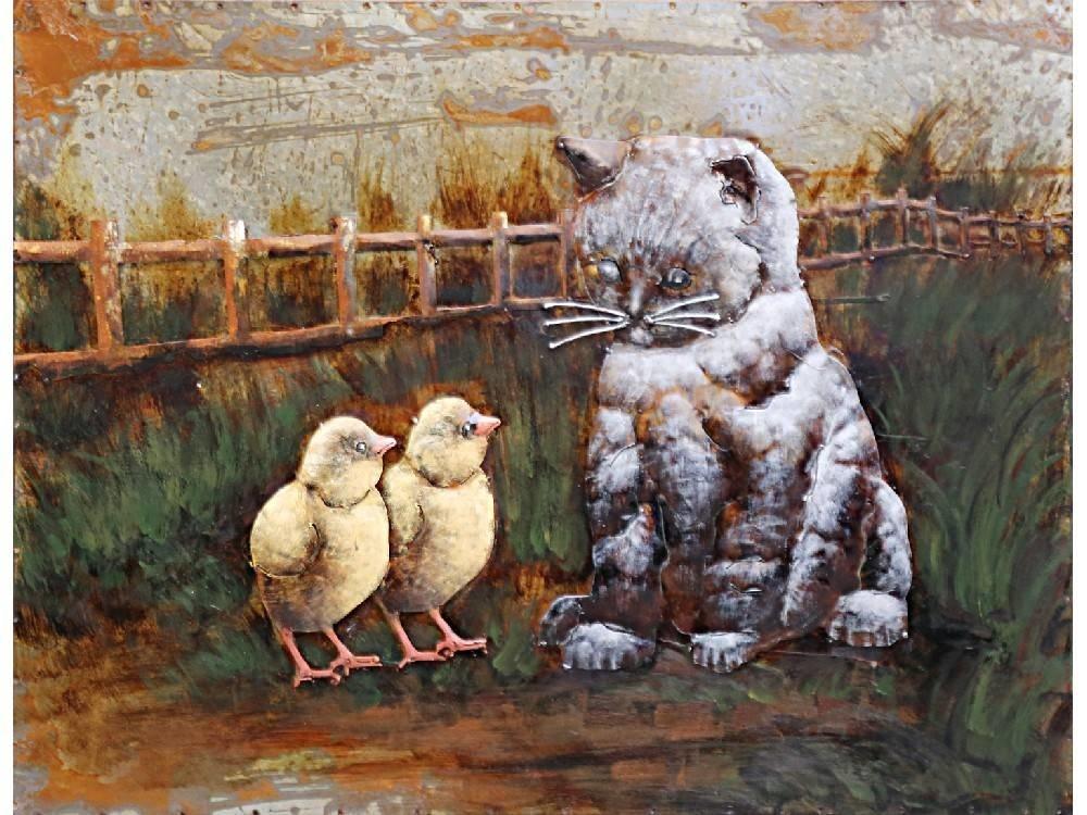 Eliassen 3D schilderij metaal 75x100cm Kat