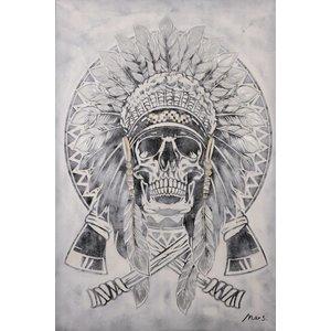 Oil painting Skull 124x84cm