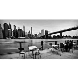 Eliassen Glass painting 160x80cm Terrace under bridge
