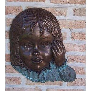 Eliassen Muurdecoratie brons meisjesgezicht