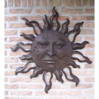 Wanddekoration Bronze Sonne sehr groß