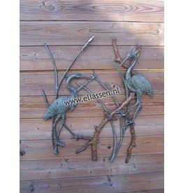 Eliassen Wanddekoration Bronze-Reiher