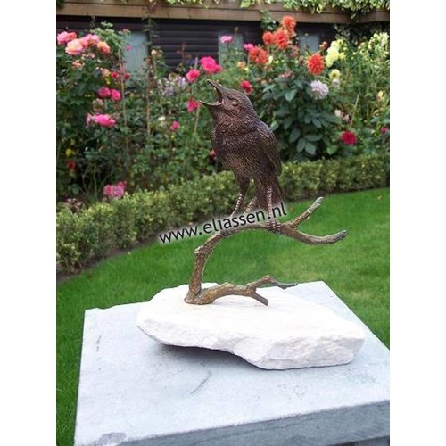 Eliassen Beeld brons vogel op tak