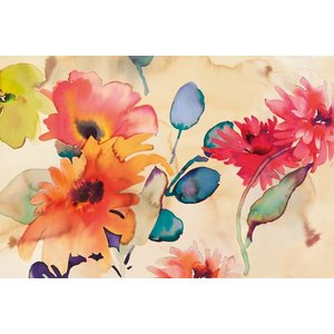 MondiArt Schilderij glas Fleurig 80x120cm