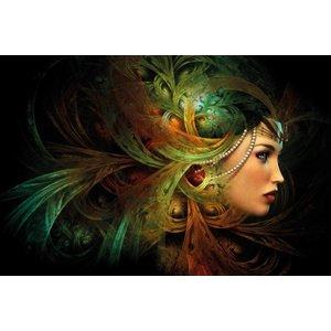 MondiArt Malerei Glas Dame 80x120cm