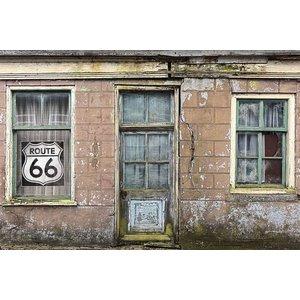 MondiArt Schilderij glas Oud huis 80x120cm