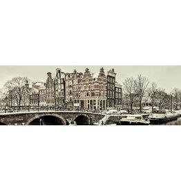 MondiArt Glas-schilderij Prinsengracht 50x150cm