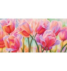 MondiArt Diptych glass Tulips
