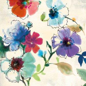 MondiArt Glasmalerei 80x80cm Fleur 2