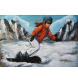 Eliassen 3D Malerei Metall 80x120cm Snowboarder