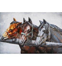 Eliassen 3D painting metal 80x120cm 3 Horses