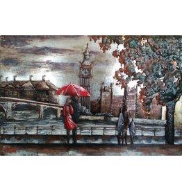 Eliassen 3D painting metal 80x120cm London at Thames