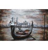 Eliassen 3D schilderij metaal 80x120cm  Gondel