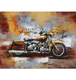 Eliassen 3D schilderij metaal 80x60cm  Motor Harley