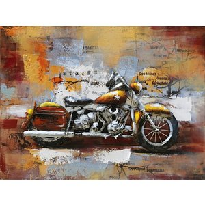 Eliassen 3D Malerei Metall 80x60cm Motor Harley