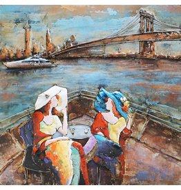 Eliassen Metal painting 100x100cm terrace New York