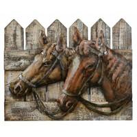 3D Metall-Holz 40x50cm Pferde malen