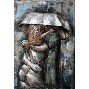 Eliassen Metaal schilderij Love 3 80x120cm