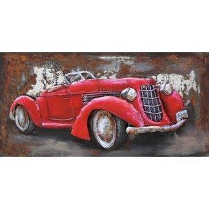 Eliassen Metall 3d Gemälde 80x40cm Cabrio
