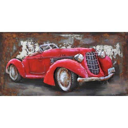 Eliassen Metaal 3d schilderij 80x40cm Cabrio