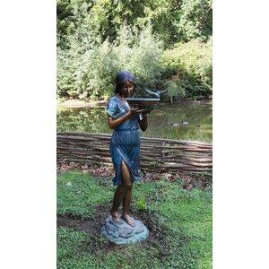 Eliassen Wasserverzierungs-Bronzemädchen mit Wasserschüssel