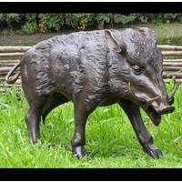 Beeld brons everzwijn groot 1