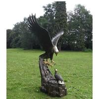 Image bronze eagle with nest