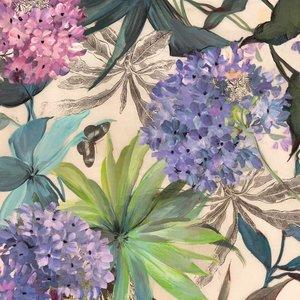 MondiArt Glasmalerei 80x80cm Hortensien 1