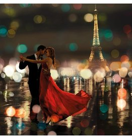 MondiArt Glasmalerei 80x80cm Romantik in Paris