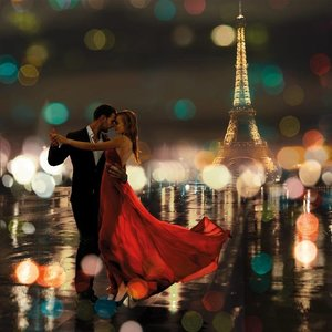 MondiArt Glass painting 80x80cm Romance in Paris