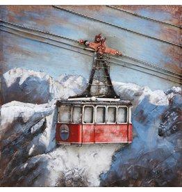 Eliassen 3d painting metal ski lift 100x100cm