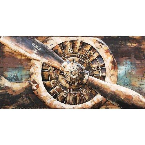 3D schilderij Stermotor 1 70x140cm