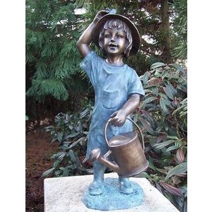 Eliassen Image bronze girl with watering can