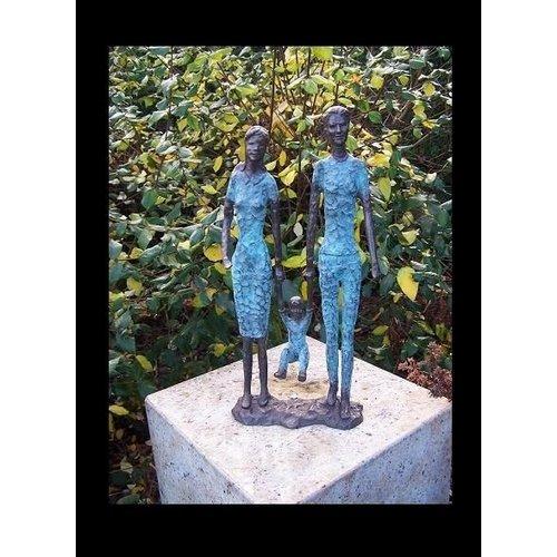 Eliassen Beeld brons modern koppel met kind