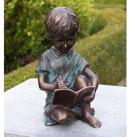 Eliassen Beeld brons schrijvend jongetje