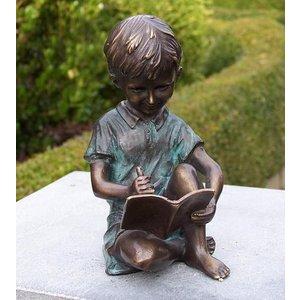 Eliassen Image bronze writing boy