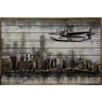 3D-Malerei Metall-Holz Above NY 80x120cm