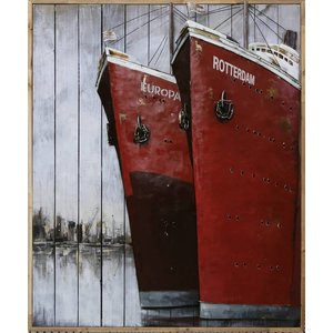 Malerei Metall Holz 2 Boughs 100x120cm