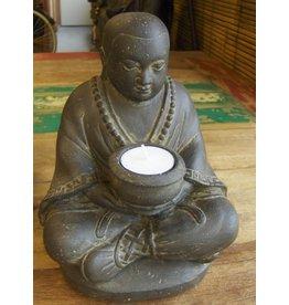 Eliassen Buddhist monk with dish