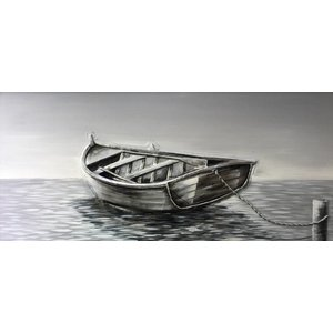 Painting oil painting Rowing boat 140x70cm