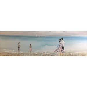 Olieverf schilderij Mooi 50x150cm