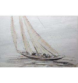 Painting oil painting Bakboord 90x70cm