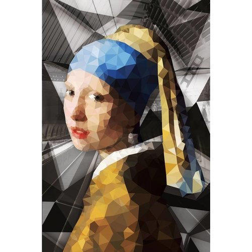 Ter Halle Glass painting Girl with the pearl 3 80x120cm
