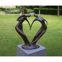 Beeld brons groot abstract danspaar