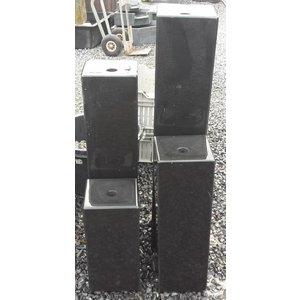 Eliassen Wassersäulen schwarz Basalt 4 Größen