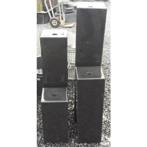 Eliassen Water columns black basalt 4 sizes