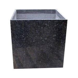 Black granite planter