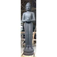 Beeld staande boeddha met pot in 2 maten