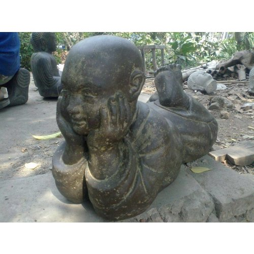 Eliassen Child monk statue lying in 6 sizes buddhist