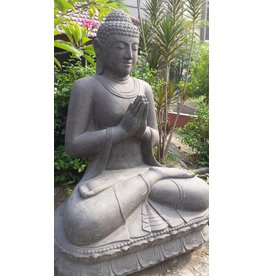 Eliassen Buddha statue on lotus saluting in 6 sizes